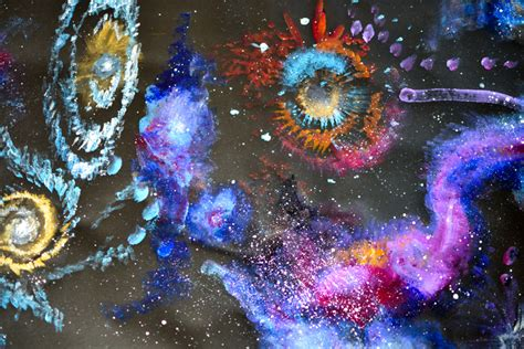 acrylic paint universe how to paint space in acrylic with adventure in a box