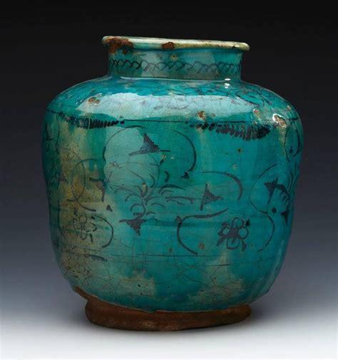 Large Antique Vases by Large Antique Middle Eastern Kashan Turquoise Vase Pre
