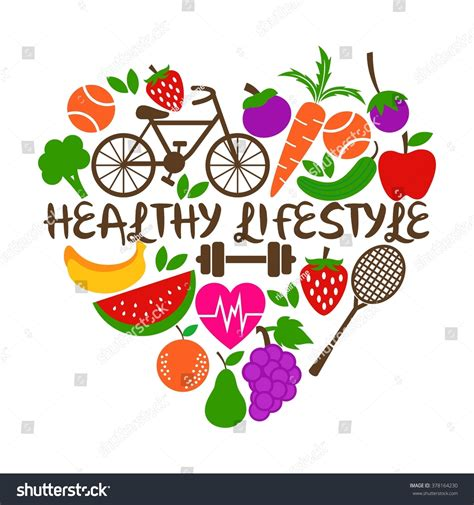 design is a lifestyle healthy lifestyle poster template stock vector