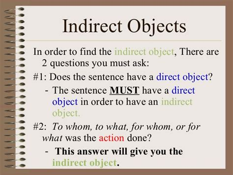 Indirect Object Worksheets With Answers