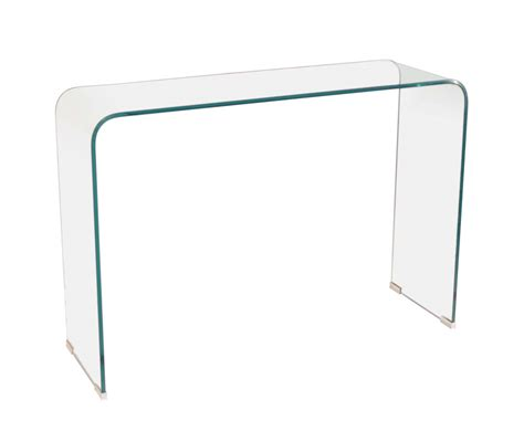 Glass Console Table Packard Clear Glass Console Table