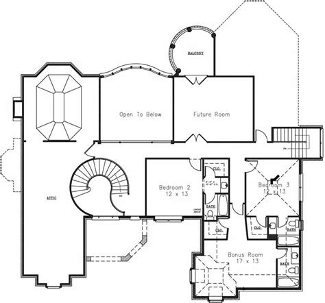 2nd floor plans classical luxury house plan
