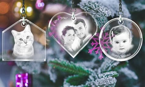 3d ornaments personalized ornaments 3d laser gifts groupon