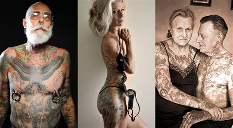 older people with tattoos youll regret it when youre tattoos of the elderly
