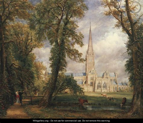 by john constable salisbury cathedral salisbury cathedral from the bishop s garden 1826 john