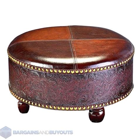 round brown ottoman brown leather round ottoman 28 images soho tufted
