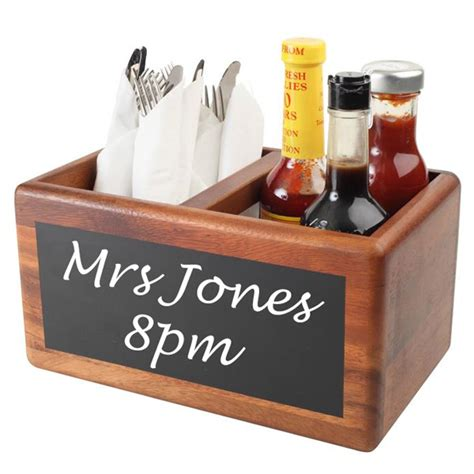 table caddy for restaurant food glorious food table tidy with chalk board