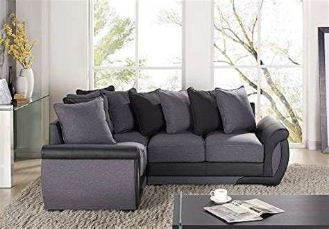 Corner Sofa 3 2 by Corner Sofa Suites Settee Gray Charcoal Fabric 3 2 Seater