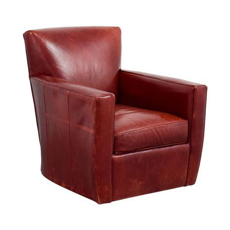 79 Off Crate Barrel Crate Barrel Leather Swivel Leather Barrel Swivel Chairs