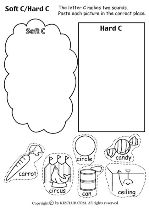 Soft C And G Worksheets by And Soft C Worksheets Free Worksheets Library