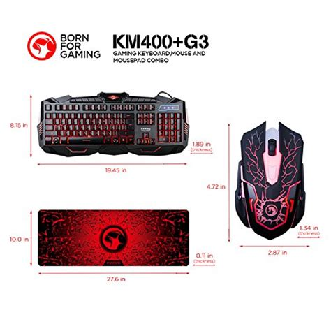 Marvo Km800 Km400 Wired Gaming Keyboard Multimedia marvo km400 gaming keyboard led mouse and large mouse pad