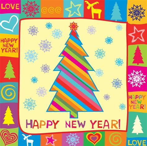new year greeting cards free printable greeting cards happy new year greeting card vector illustration free