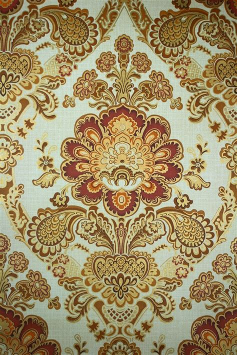 wallpaper large red damask on metallic gold background ebay gold damask wallpaper