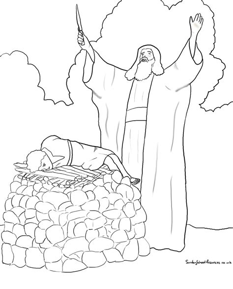 sunday school isaac bible coloring pages