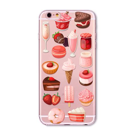 Macaron For Iphone 4 5 6 rainbow color food donuts macaron phone cases for iphone 6