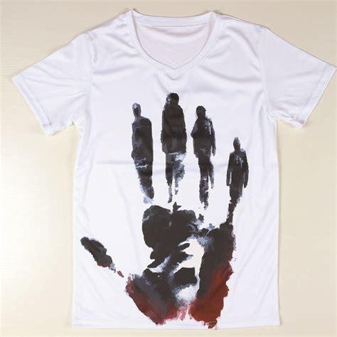 t shirt pattern v neck personalized handprint t shirts men short sleeve v neck t