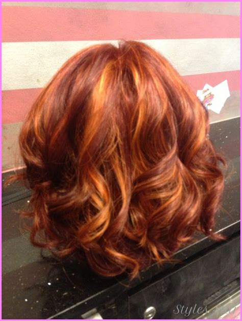 natural red hair with highlights and lowlights highlights and lowlights for red hair stylesstar com