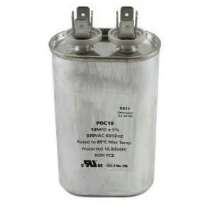 packard 370 volts motor run capacitor oval 10mfd
