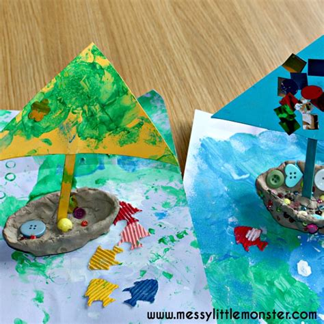 how to make a boat out of clay clay boat underwater craft messy little monster