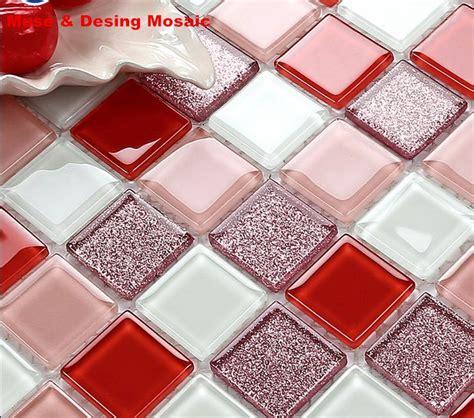 rote fliesen kaufen kaufen gro 223 handel rot glas mosaik fliesen aus china