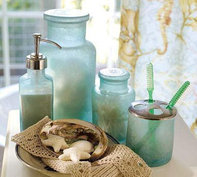 aqua coloured bathroom accessories bathroom decor pretty glass my aqua colored oasis pinterest