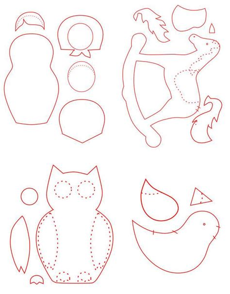 Free Christmas Ornament Templates Halloween Holidays Wizard Templates For Felt Ornaments