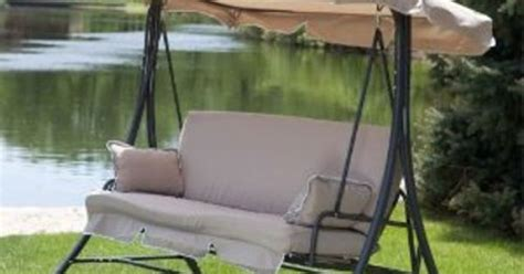 outdoor swing fabric replacement outdoor swing replacement cushions and canopy for the