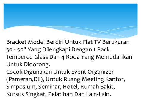 Bracket Tv Lcd Led Plasma Bandung 0896 7100 0771 harga bracket tv lcd 50 inch bandung