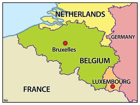 belgium in the map eenvoudige staatkundige kaart belgi 235 662 kaarten en