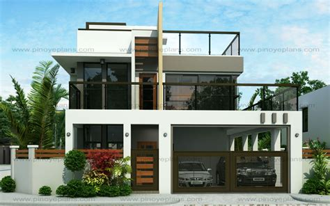 modern two storey house with streamline roof ester four bedroom two story modern house design pinoy