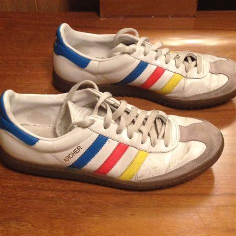 vtg school adidas original archer shoes size 9 5 us leather samba adidas