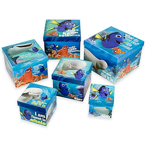 Kaos Finding Dory 6 Tx Oceanseven buy quot finding dory quot nesting boxes set of 6 from bed bath