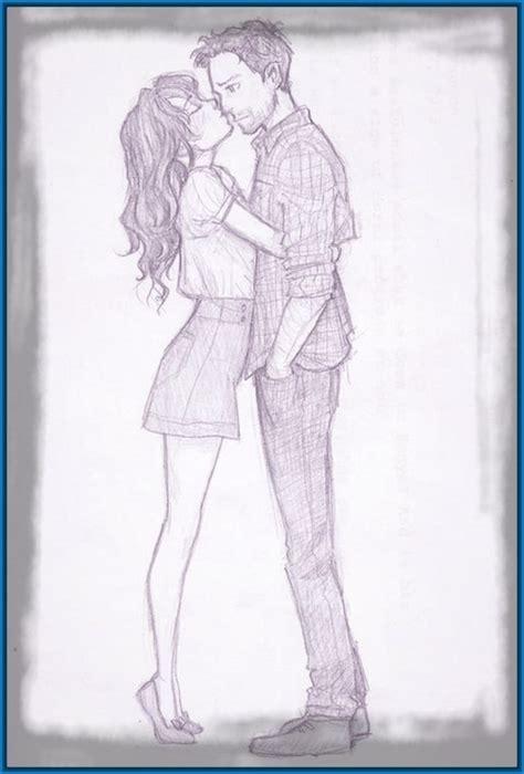 imagenes a lapiz de parejas besandose brilliant enamorados dibujos a lapiz de novios buscar con