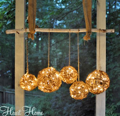 Light Up Topiary Balls - diy string light projects all things heart and home