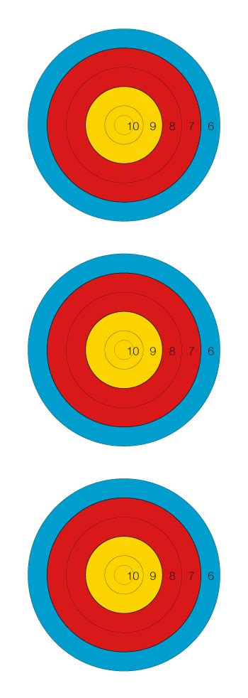 printable fita indoor targets target archery world archery