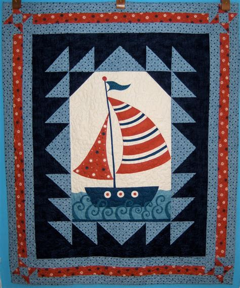 Sail Boat Quilt by Quilting Fever Sailboat Panel Quilt