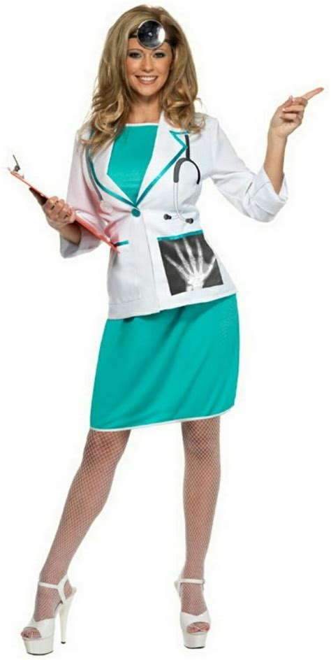 New Doctor Dress Ukuran Besar smiffy s s doctor costume size medium 10 12 ebay