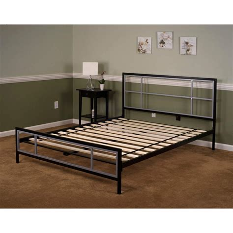 metal bed queen lincoln square queen size metal bed frame hbedlinc qn