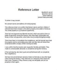 Landlord Tenant Letter Templates by Reference Letter Template For Tenant Cover Letter Templates