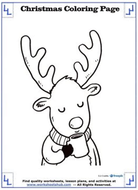 printable christmas coloring pages cute winter animals