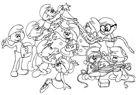 desenho natal dos smurfs colorir tudodesenhos