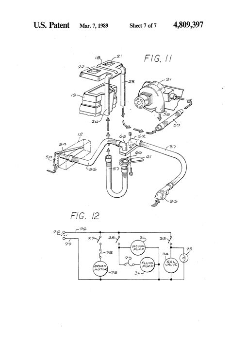 rug doctor parts diagram patent us4809397 rug and carpet cleaner patentsuche