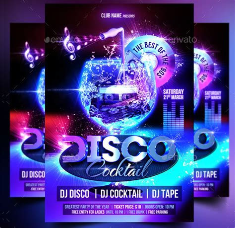 template flyer disco party 31 disco flyer templates free premium download