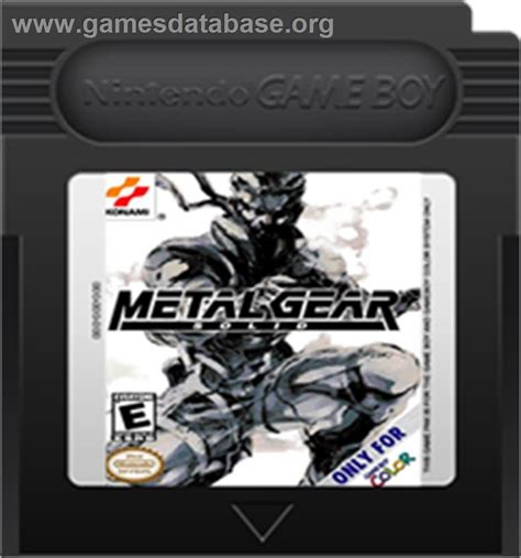 metal gear solid gameboy color metal gear solid nintendo boy color database