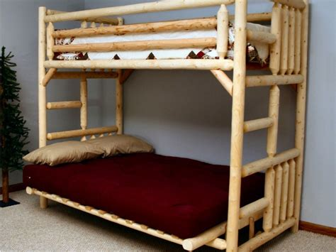 Rustic Futon Beds by Futon Bunk Bed With Mattress Included