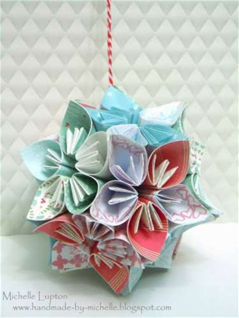 Origami Flower Ornament - project origami ornament sting