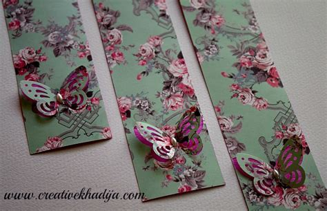 Handmade Bookmarks For Sale - how to make bookmarks with butterfly paper punch