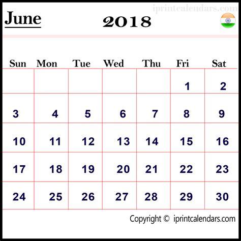 Calendar 2018 Wall India June 2018 Calendar India Templates Tools