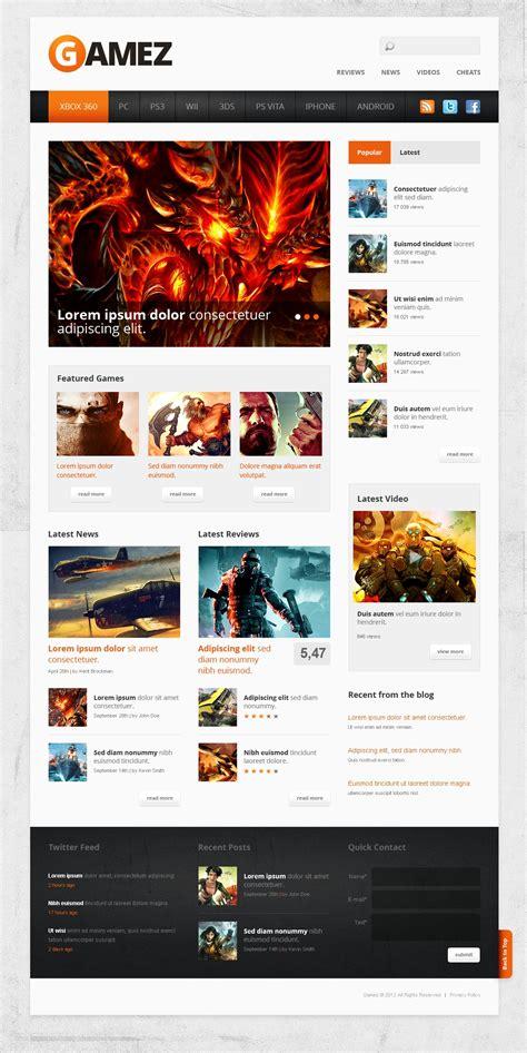 Game Portal Website Template 40905 Portal Site Template