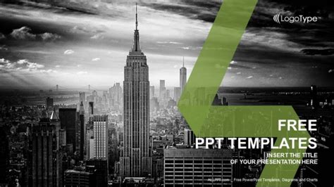 New York City Skyline Powerpoint Templates City Powerpoint Template